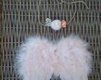 Heavenly Angelique Soft Beige Newborn Angel Wings, Baby Wings, Newborn Wings