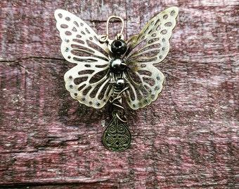 Steampunk Butterfly Pin