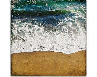 beach art canvas // ocean art photography // huge beach wall art // Tide on canvas, ready-to-hang