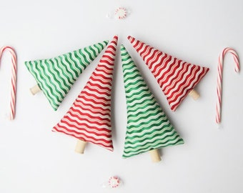Christmas tree decoration red green Christmas trees, room decor, mantle decor, nursery decor stocking stuffer Christmas gift idea