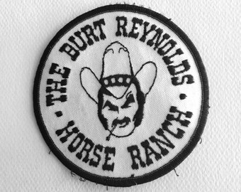 Vintage BURT REYNOLDS Horse Ranch - Embroidered Patch - NOS - Jupiter, Florida