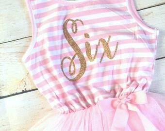 6th Birthday Tutu Dress / Birthday Outfit Girl, Toddler Dress, Baby Girl Dress, Birthday Dress, Birthday Girl, Tutu Dress, Girl Clothing
