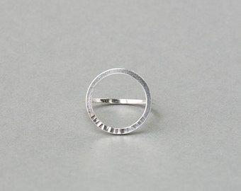 Silver or Gold-Fill Sundial Circle Ring   Sequence Collection by Haley Lebeuf
