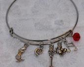 The Little Mermaid Ariel Inspired Expandable Wired Bracelet Mermaid Shell Fork Dinglehopper Crab Music Note