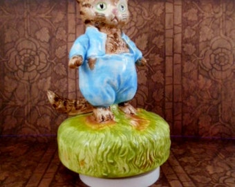 Tom Kitten by Beatrix Potter Music box-1977,Schmid NY& London-Perfect!