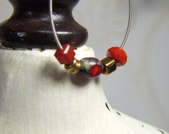 Recycled Loop Guitar String  Earrings