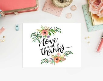 Instant Download - Boho Folded Note Card
