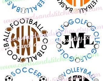 Sport Balls SVG - Football SVG - Soccer SVG - Digital Cutting File - Instant Download - Vector - Cricut Cut - Svg, Dxf, Jpg, Eps, Png
