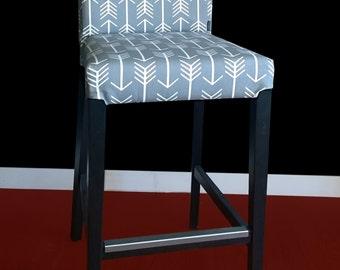 IKEA HENRIKSDAL Bar Stool Chair Cover - Arrows Cool Grey