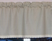 Private Listing for J'sha  . Custom Valance . Black and Cream  with Crochet Lace Trim