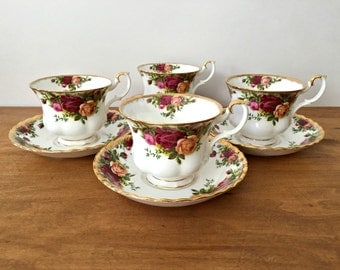 Royal Albert Old Country Roses Tea Cups and Saucers