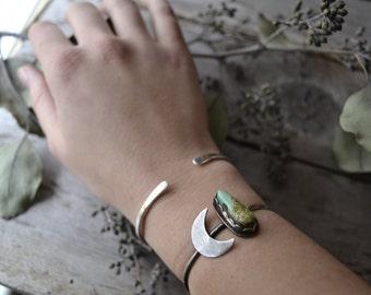 turquoise cuff // moon cuff bracelet // pilot mountain turquoise