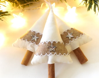 Country Holiday Decor Christmas Tree Star Decorations Rustic Christmas Decor Burlap Christmas Decoration