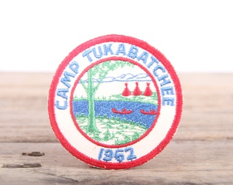 Vintage 1962 Boy Scout Patch / Camp Tukabatchee BSA Patch / Scouts Patch / Scout Badge / Alabama Patch / Boy Scouts of America