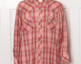 Vintage Light Weight Snap Button Down Western Shirt - GOLDEN SPUR