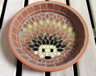 Harvest Hedgehog Water Dish Saucer Wildlife 21cm Garden Yard Decoration