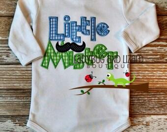 Little Mister Mustache Bodysuit Size 0/3M and 3/6M