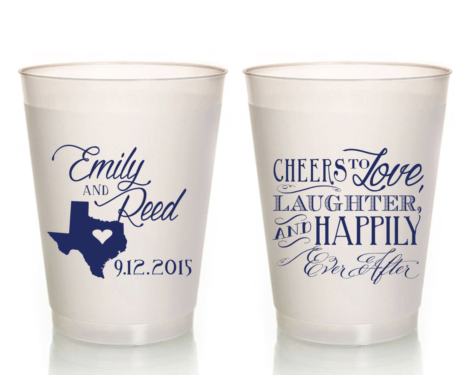 personalized frosted flex cups plastic party cups wedding