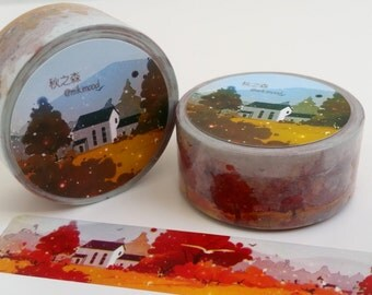 Colourful Autumn Scene Washi Tape 2cm