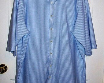 Vintage men 39 s blue plaid shirt by eddie bauer by susoriginals for Stafford white short sleeve dress shirts