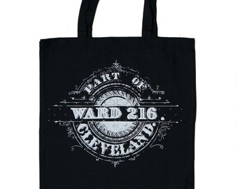 Ward 216 - Black Cotton Tote