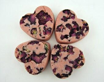 Rose Jam Bath Melt . Valentine's Day Gift . Bath Bomb . Rose . Huge 5 oz Size . Bath Truffle . Rose Jam