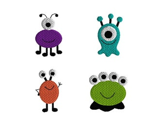 Mini Monster Machine Embroidery Designs-INSTANT DOWNLOAD