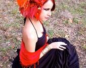 FIRE ELEMENT Feather Headdress
