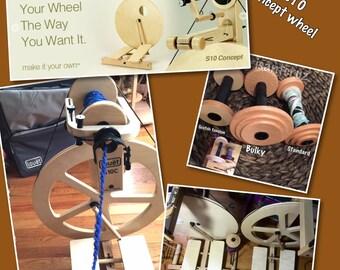 Louet S10C bobbin lead ,irish tension, Spinning wheel  DT Irish tension wheel : saorisantacruz