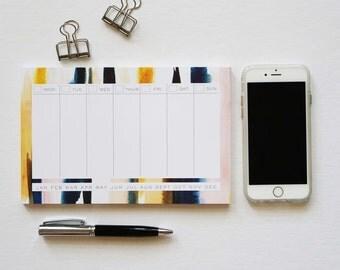 Mini Weekly Planner, Desk Pad, Desk Notepad, Agenda, Weekly Notepad