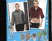 Simplicity 2858 Misses' Jackets, At Or Below Waist, Or Crop Style With 3/4, 1/2 Or Short Raglan Sleeves, And Loose Fit, Project Runway UNCUT