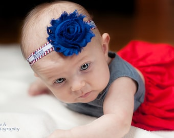 Patriots Baby Headband.  Football Baby Headband. Patriots Baby Headband. Pats Baby Headband.  New England Patriots Baby Girl Outfit