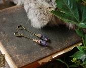 dionysus // amethyst point earrings
