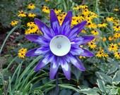 Garden Glass Flowers, Yard Sun Catcher, Garden Yard Art and outdoor Garden sun catcher with repurposed glass