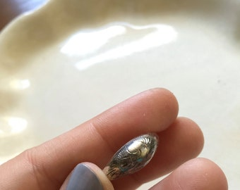 Vintage Sterling Silver Native American American Indian Etched Dome Ring DESTASH AS IS