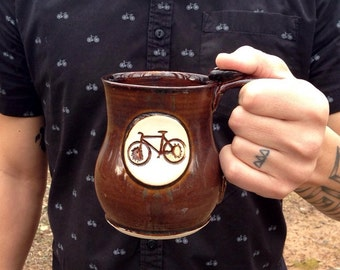 Bike Coffee Mug- Brown - Bike Mug