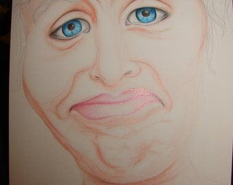 Stank Face - Funny Drawing - Silly - Coloured Pencil