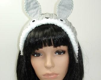 Crochet Totoro Headband-Totoro-Anime-Cosplay- Harajuku-Crochet Headband- Gift For Her-Geek-Mori Kei-Winter Headband-Bonnet