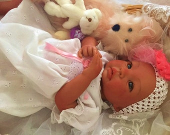 From the Biracial Shyann Kit  Reborn Baby Doll 19 inch Baby Girl Geneva Complete Baby Doll