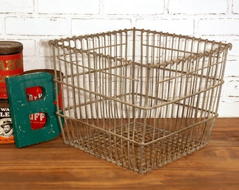 Reclaimed Industrial Heavy Metal Wire Basket