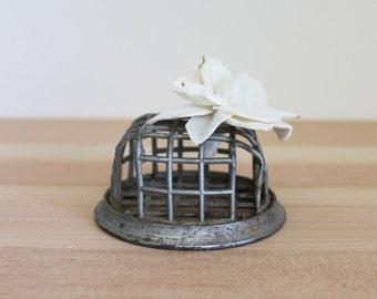 Vintage Flower Frog // Rustic Décor