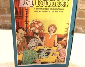 1962 Bookshelf Game Phlounder Word Building Challenge 2 - 6 Player Action Word Game