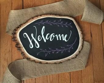 Handmade Chalkboard & Calligraphy Welcome Sign