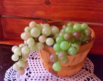 Two Bunches of Green Grapes, Rubber Grapes