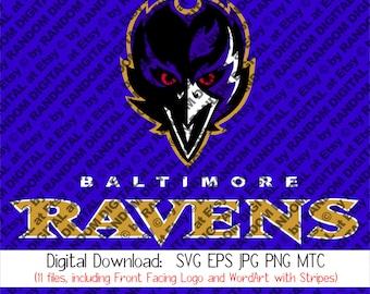 Baltimore Ravens SVG Logo MTC EPS cutting file, plus PnG & Jpg Digital Download for Die Cutters Vinyl Scrapbooking T-shirt Designs