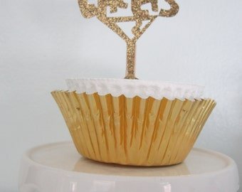 Cheers ~ Cupcake Topper ~ Cake Topper ~ Appetizer Pick ~ Set of 12