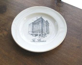 Historic U.S. Hotel Plate - Portland, Oregon Vintage Benson Hotel Lunch or Salad Plate - Architectural, Pictorial Vintage Restaurantware