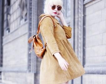 Mod Dolly/ Cara Smock Dress/ Mustard/ Corduroy