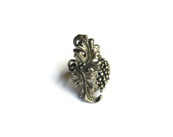 Vintage Sterling Silver Grapevine Ring