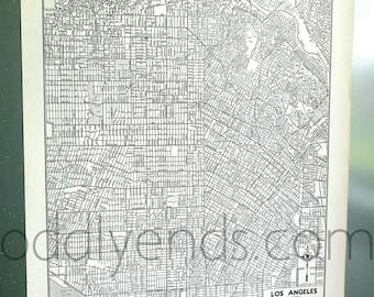 1941 Los Angeles California LA Vintage City Atlas Map